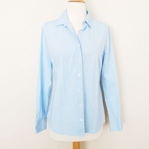 J. Crew Stretch Perfect Button Up Long Sleeve Top